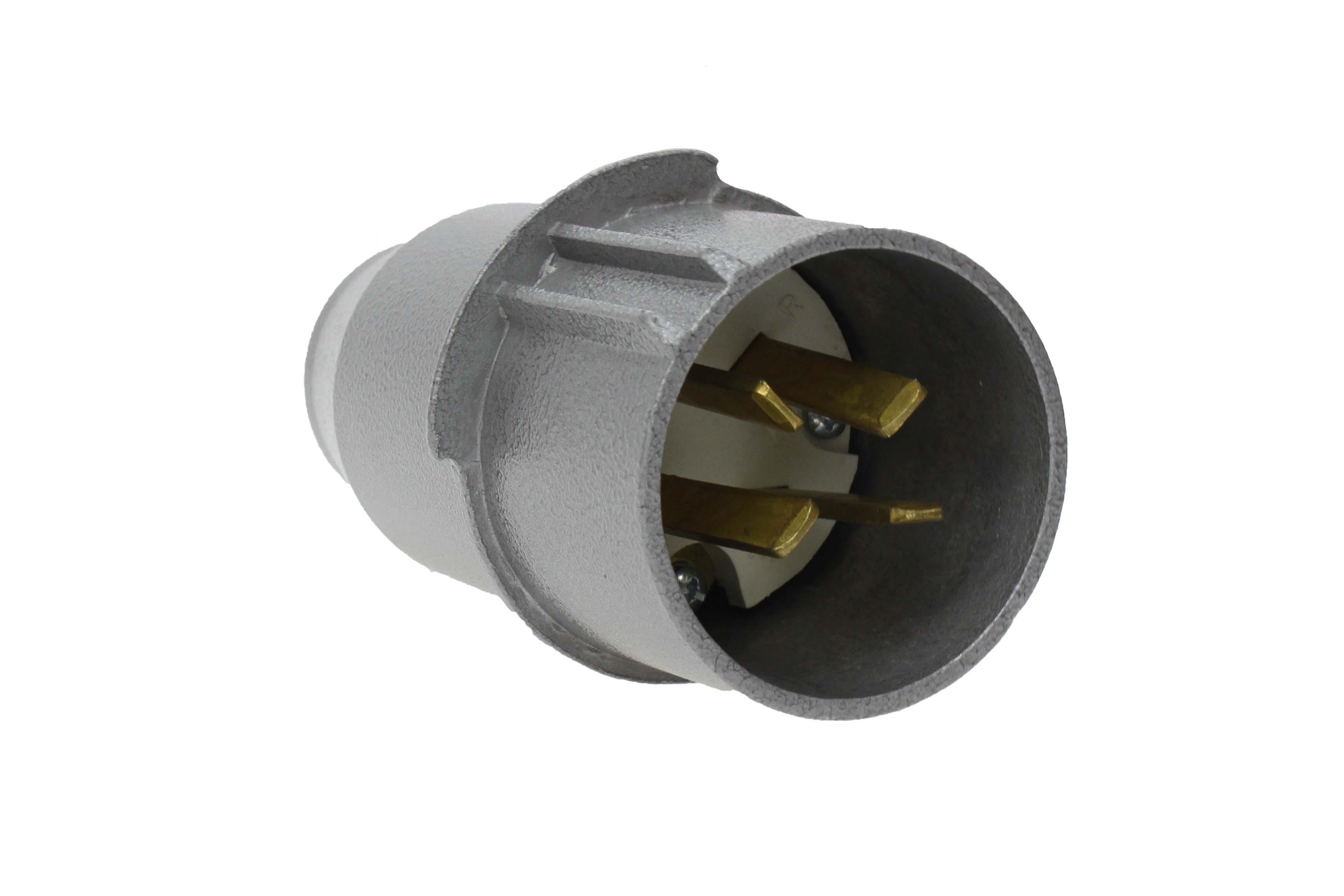 Wtyczka siłowa metalowa płaskie wtyki 32A 4P 500V
